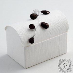 White Chest Wedding Favour Box