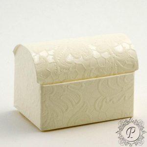 Ivory Macrame Ballotin Chest Wedding Favour Box