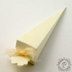 Ivory Macrame Confetti Cone Wedding Favour