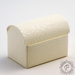 Ivory Soft Rose Ballotin Chest Wedding Favour Box