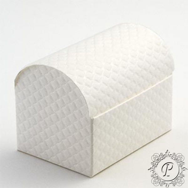 White Quilted Ballotin Chest Wedding Favour Box