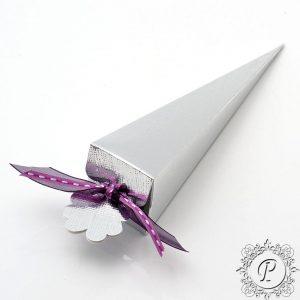 Silver Confetti Cone Wedding Favour