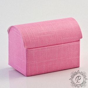 Pink Ballotin Chest Wedding Favour Box