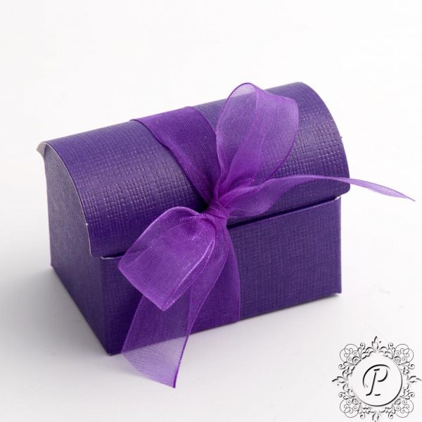 Cadbury Purple Ballotin Chest Wedding Favour Box