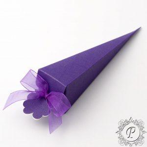 Cadbury Purple Confetti Cone Wedding Favour