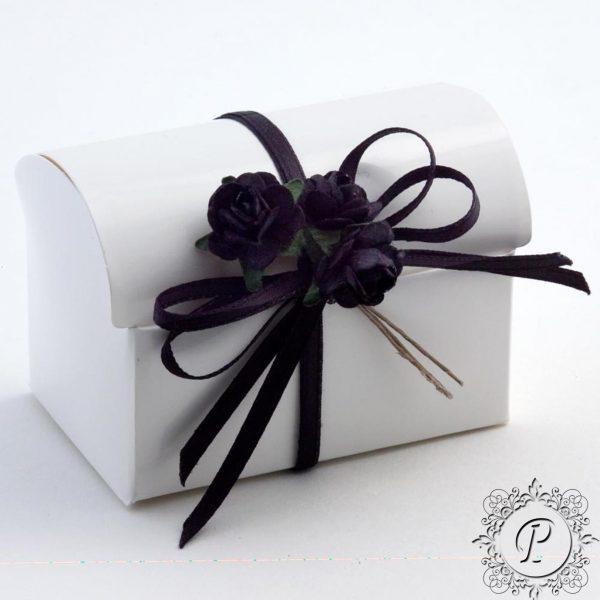 White Gloss Ballotin Chest Wedding Favour Box