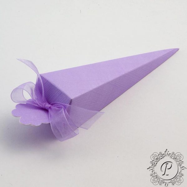 Lilac Confetti Cone Wedding Favour