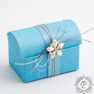 Blue Ballotin Chest Wedding Favour Box