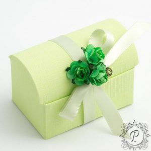 Lime Green Ballotin Chest Wedding Favour Box