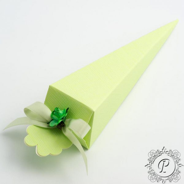 lime Green Confetti Cone Wedding Favour