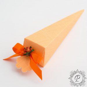 Orange Confetti Cone Wedding Favour