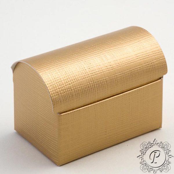 Gold Ballotin Chest Wedding Favour Box