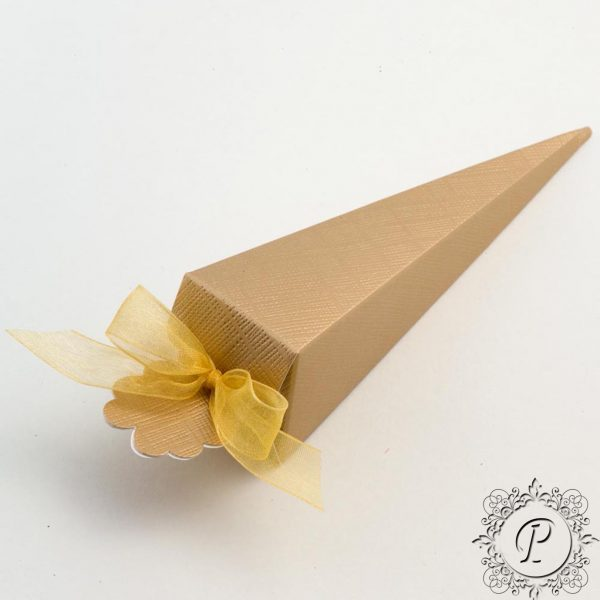 Gold Confetti Cone Wedding Favour