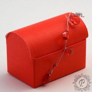 Red Ballotin Chest Wedding Favour Box