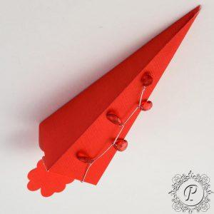 Red Confetti Cone Wedding Favour