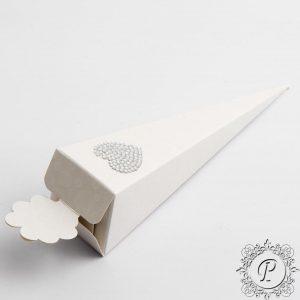 Sphere Pearla Confetti Cone Wedding Favour