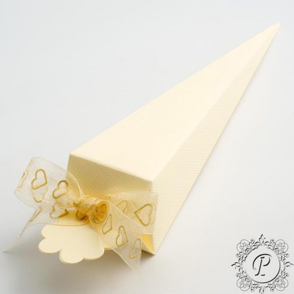 Ivory Confetti Cone Wedding Favour