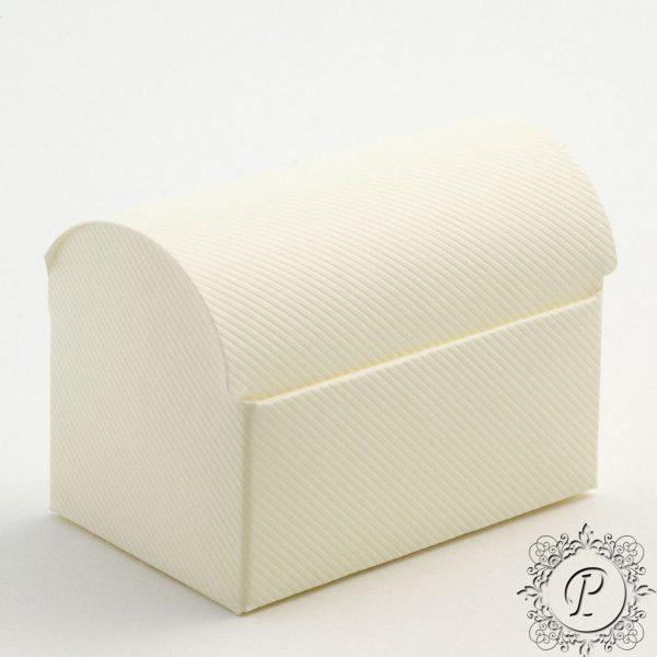 Ivory Scia Ballotin Chest Wedding Favour Box