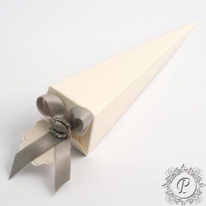 White Pelle Confetti Cone Wedding Favour