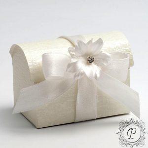 Ivory Ardesia Ballotin Chest Wedding Favour Box