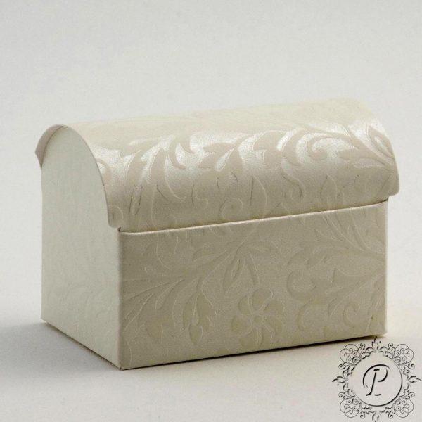 Ivory Diamante Ballotin Chest Wedding Favour Box