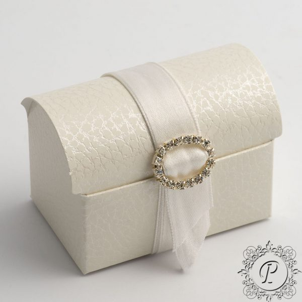 White Pelle Ballotin Chest Wedding Favour