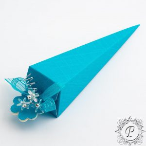 Turquoise Confetti Cone Wedding Favour