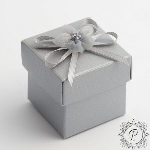 Silver Pelle Cube Wedding Favour