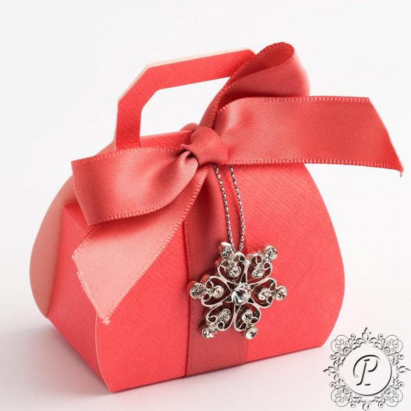 Coral Handbag Wedding Favour