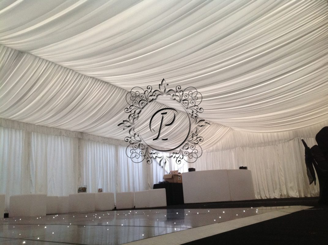 Marquee with white dancefloor