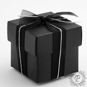 Black Cube Corpercio Wedding Favour Box