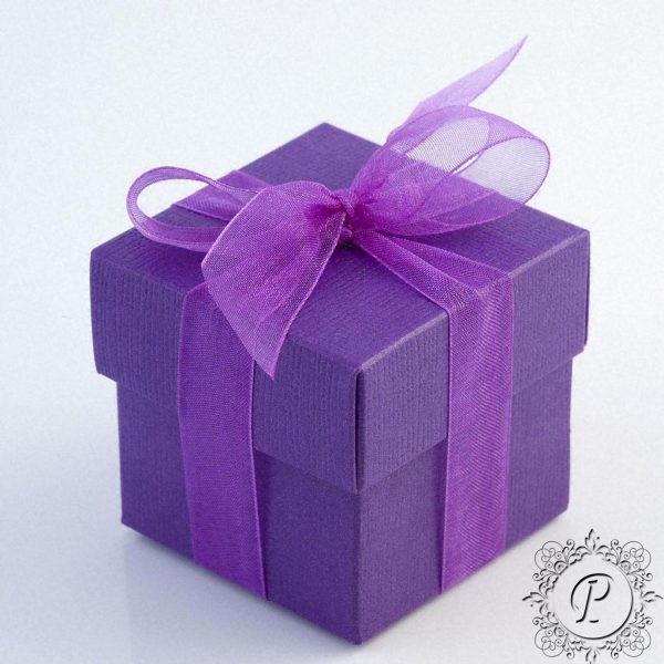 Cadbury Purple Cube Corperchio Wedding Favour Box