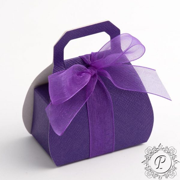 Cadbury Purple Handbag Wedding Favour Box