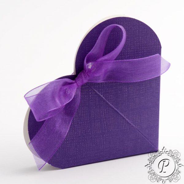 Cadbury Purple Heart Wedding Favour Box