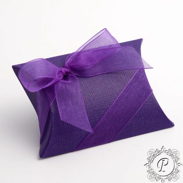 Cadbury Purple Pillow Bustina Wedding Favour Box