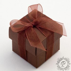 Coffee Cube Corpercio Wedding Favour Box