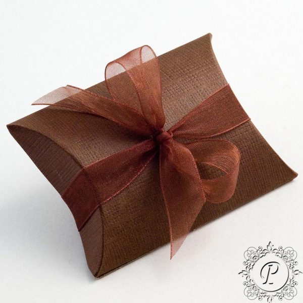 Coffee Pillow Bustina Wedding Favour Box