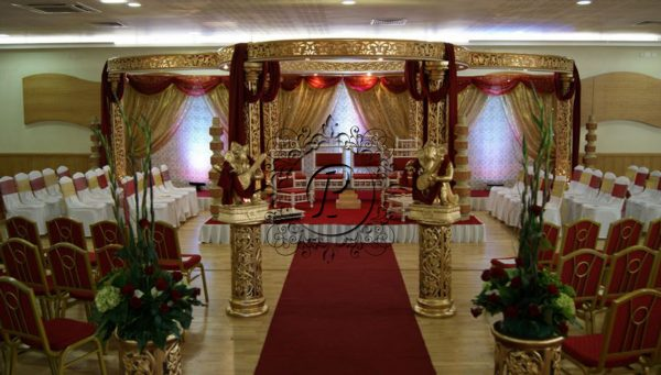 Front view of Ashika Mandap with theatre style seating