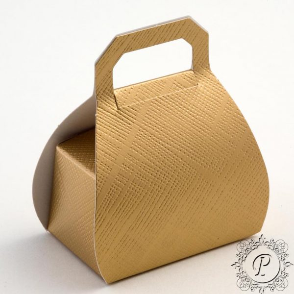 Gold Handbag Wedding Favour Box