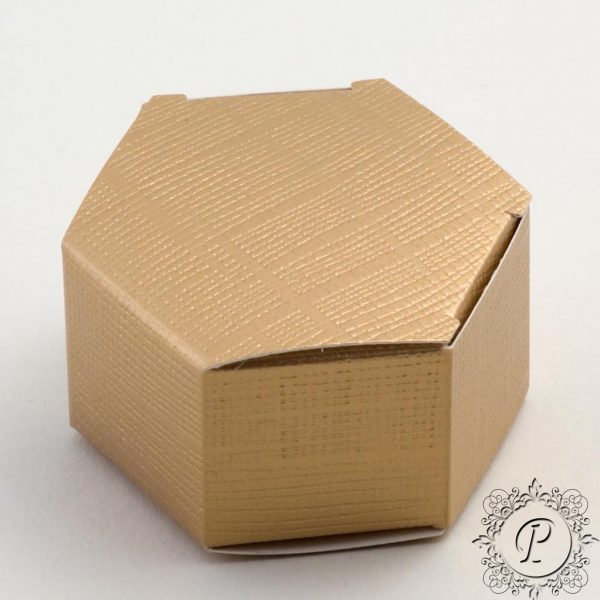 Gold Hex Astuccio Wedding Favour Box