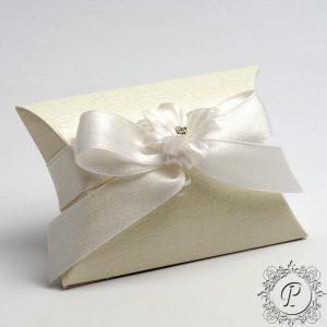 Ivory Ardesia Pillow Bustina Wedding Favour Box