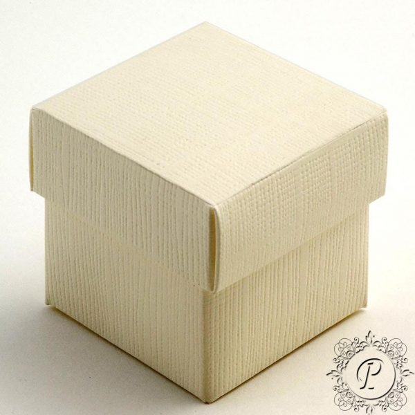 Ivory Cube Corpercio Wedding favour Box