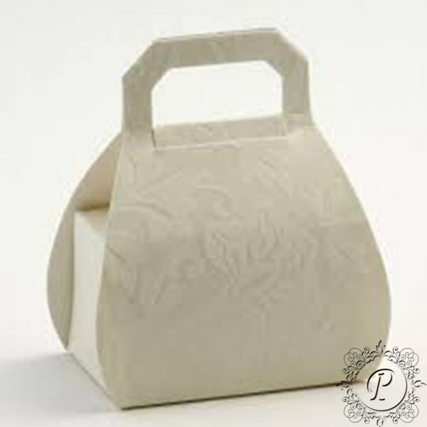 Ivory Diamante Handbag Wedding Favour Box