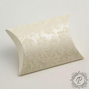 Ivory Diamante Pillow Bustina Wedding Favour Box