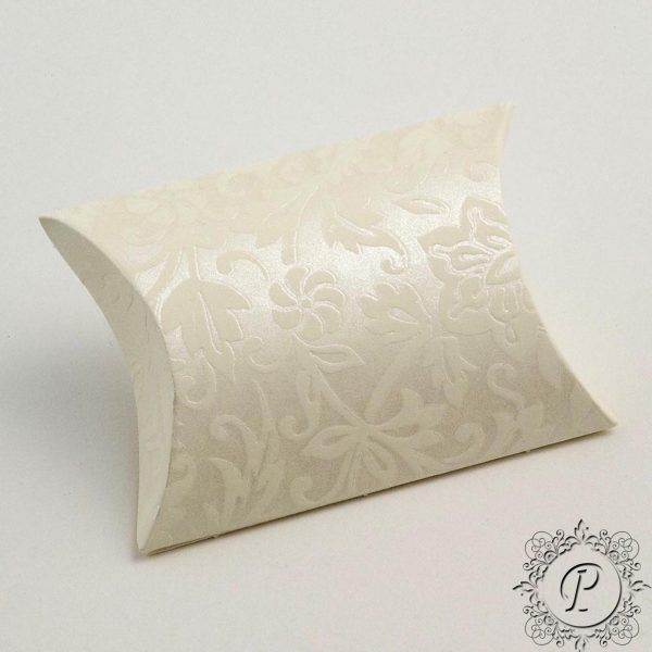 Ivory Diamante Pillow Bustina Wedding Favour Box