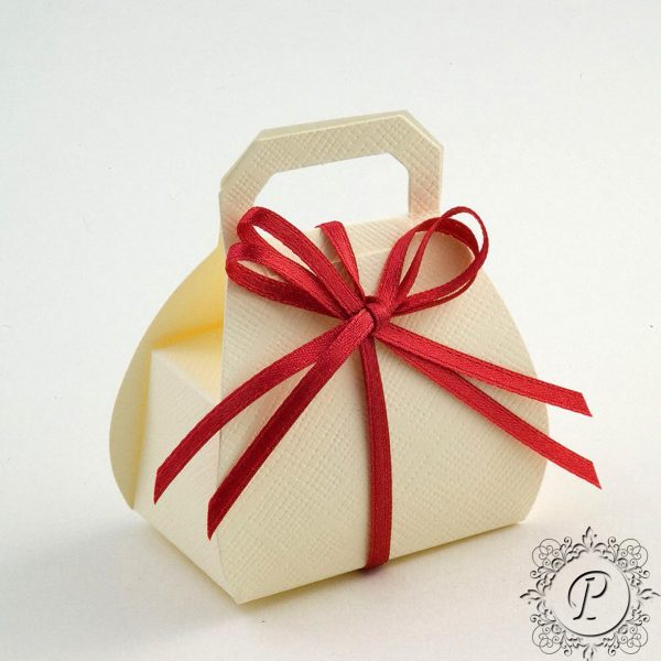 Ivory Handbag Wedding Favour Box