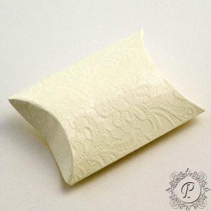Ivory Macrame Pillow Bustina Wedding Favour Box