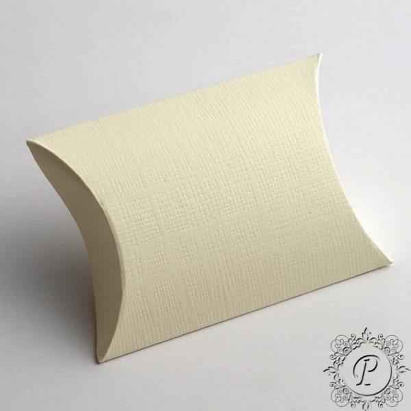 Ivory Pillow Bustina Wedding Favour Box