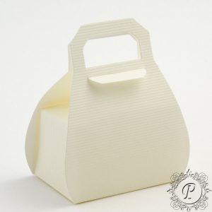Ivory Scia Handbag Wedding Favour Box