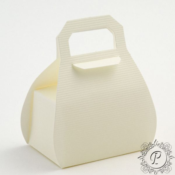 Ivory Scia Handbag Wedding Favour Box